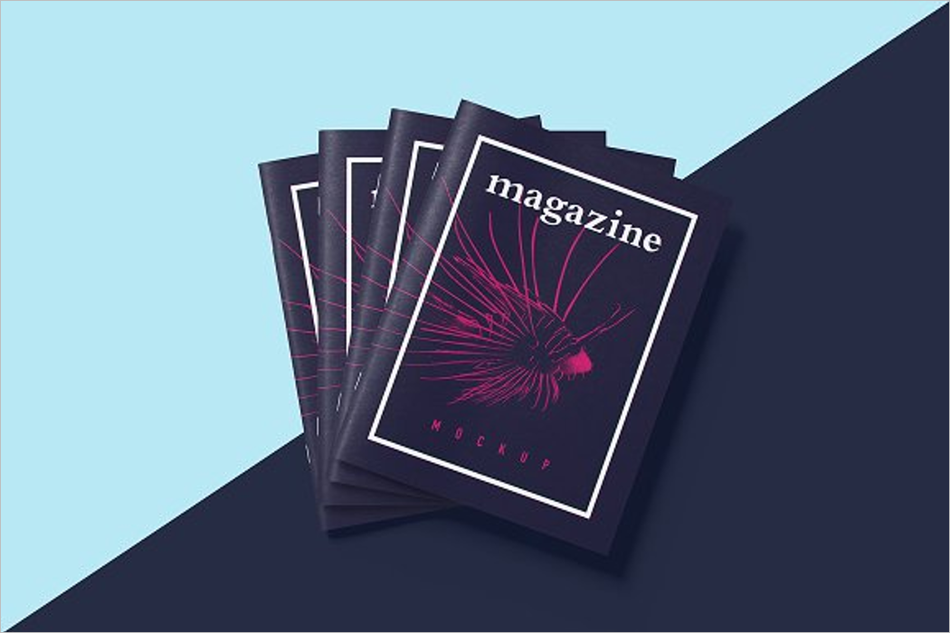 Custom Magazine Mockup Design