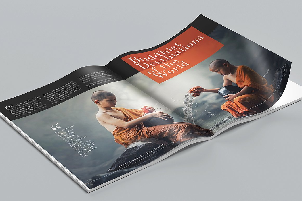 Magazine Mockup PSD Free Download