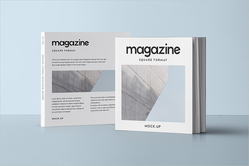 Magazine Mockup Pack Design