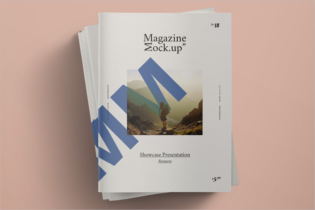 Magazine Spread Mockup Design