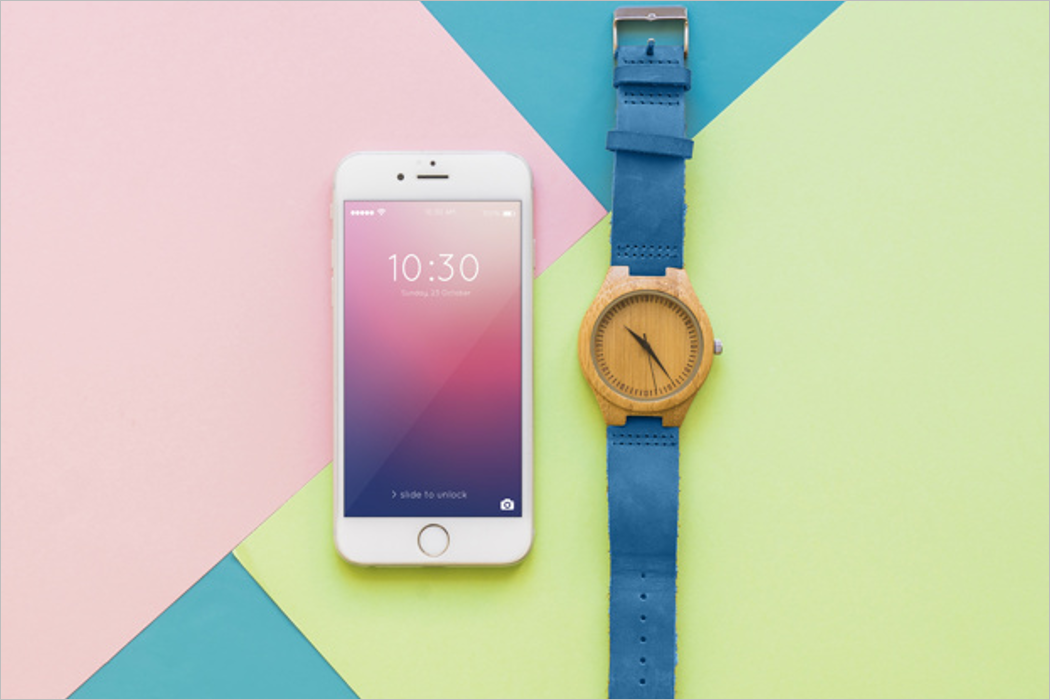 Mobile And Watch Mockup