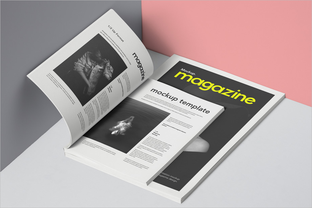 Mockup Design For Magazine