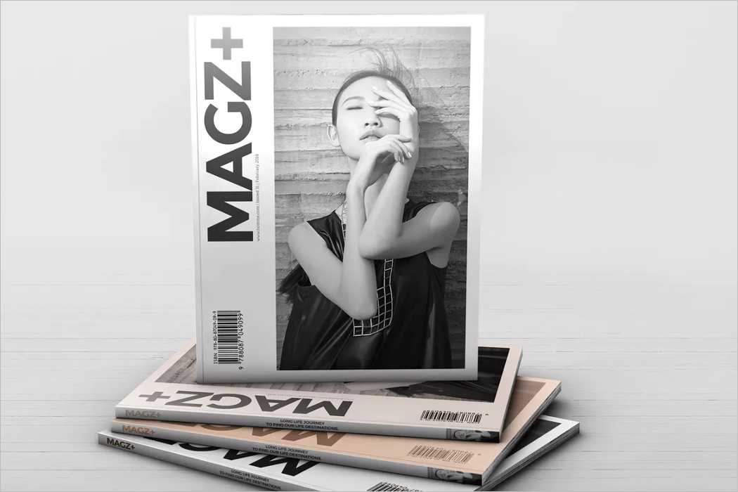 Mockup Square Magazine Design