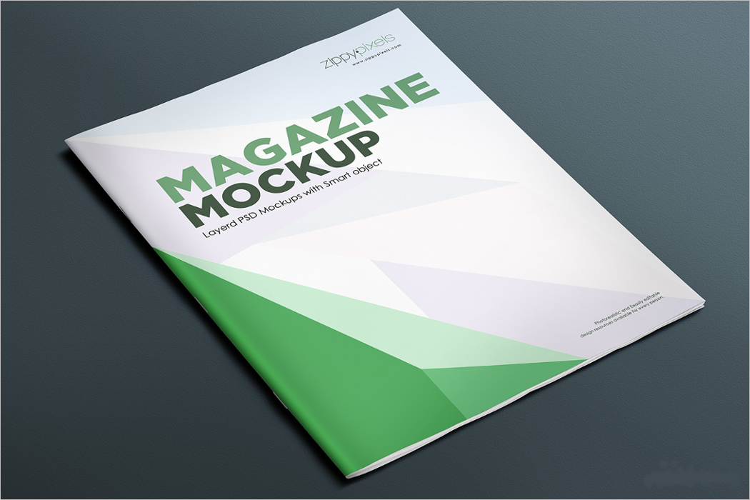 Photorealistic Magazine Mockup Design