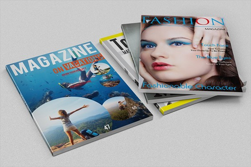 Set Of Magazine Mockup
