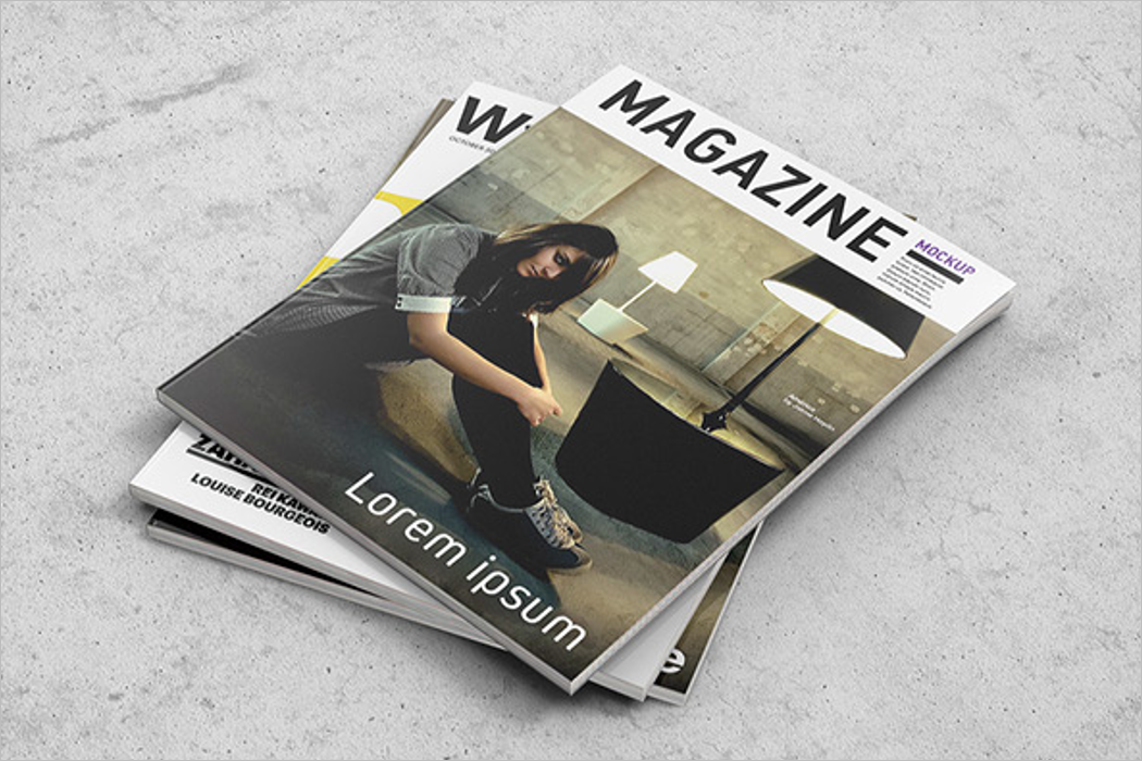 Square Magazine Mockup Design