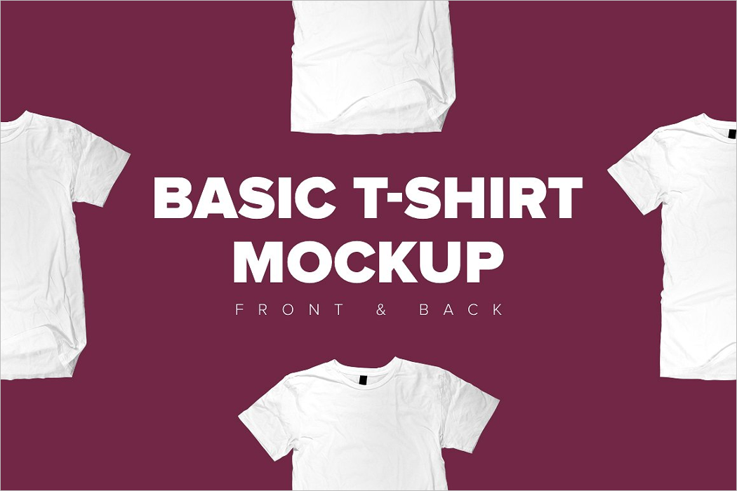 T-Shirt Front Mockup Template