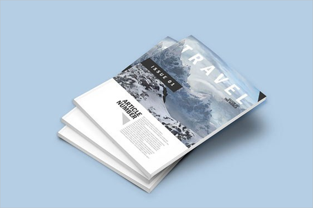 Travel Magazine Mockup Design