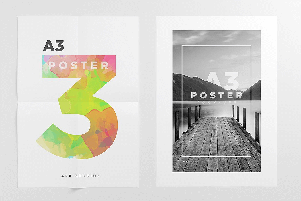 A3 Poster Mockup Template