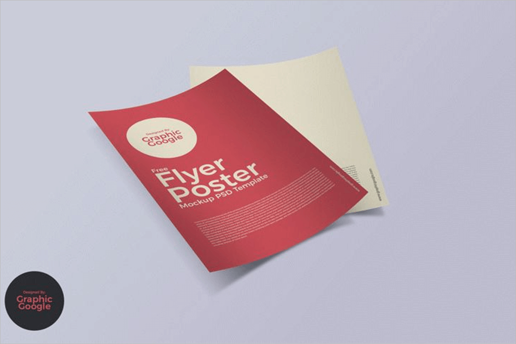 Free Flyer Poster Mockup PSD Template