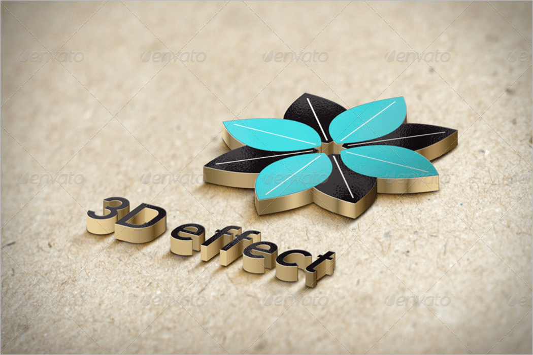 3d logo & text effect mockup psd template
