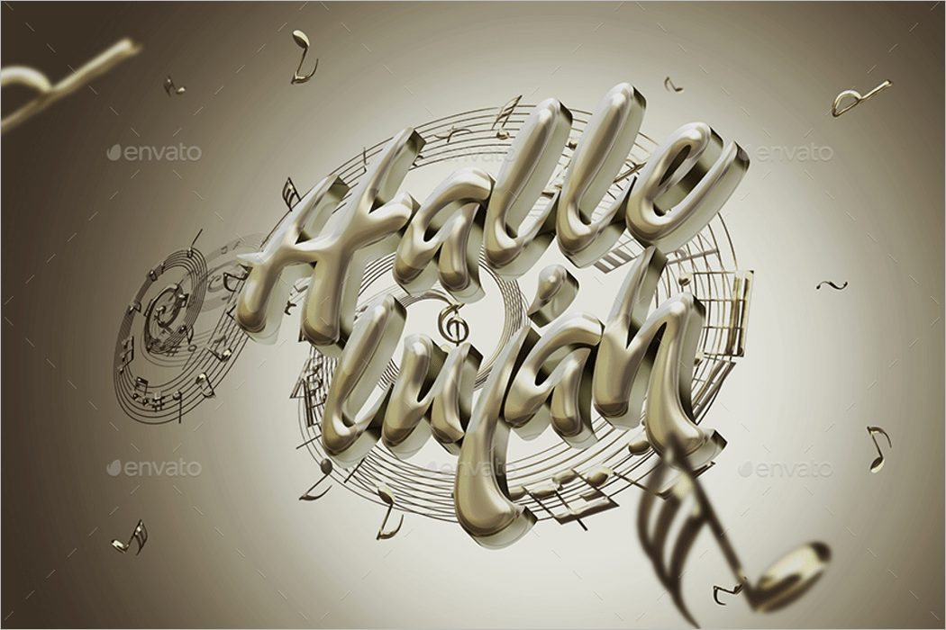 3d text effect psd design