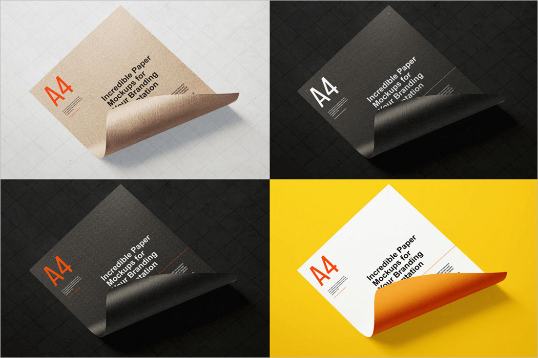 A4 Paper Mockup Template