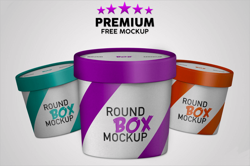 Round Box Packaging Template