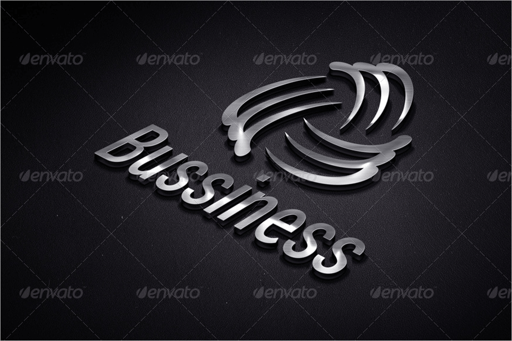 business 3d logo mockup psd