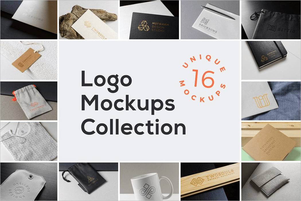 High Quality Logo Mockup Collections