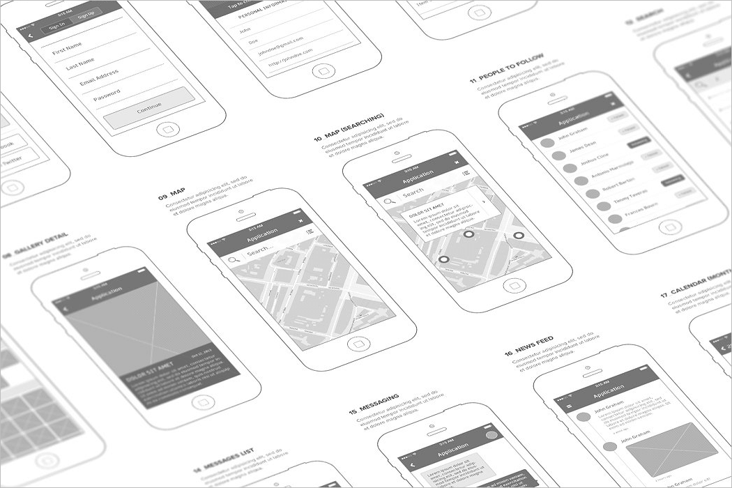 60 Wireframe Mockup Psd Free Website Example Design Templates