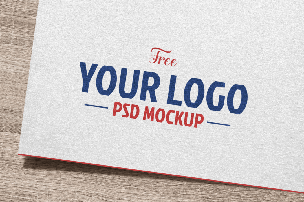Natural White Paper Logo Mockup