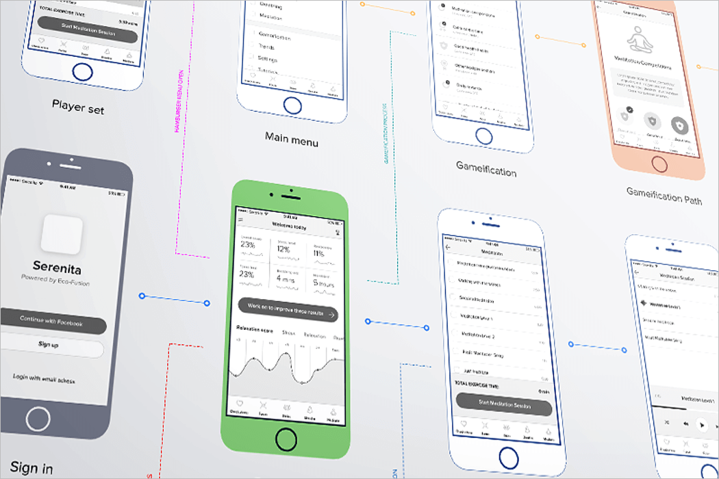 Perspective Wireframe Mockup