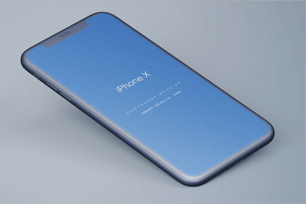 Perspective iPhone Mockup PSD