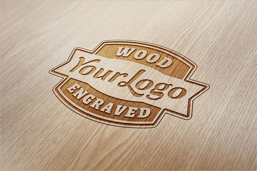 Wood Logo Mockup Template